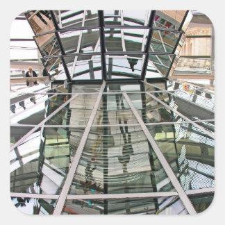 Reichstag / Bundestag, Interior, Berlin(r25) Square Sticker