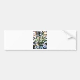 Reichstag / Bundestag, Interior, Berlin,(r25cut) Car Bumper Sticker