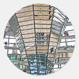 Reichstag / Bundestag, Interior, Berlin(r37pst) Classic Round Sticker