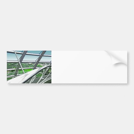 Reichstag / Bundestag,Interior Rails,Berlin(r42ct) Car Bumper Sticker