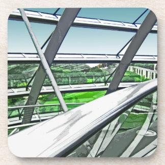 Reichstag / Bundestag,Interior Rails,Berlin(r42ct) Drink Coasters