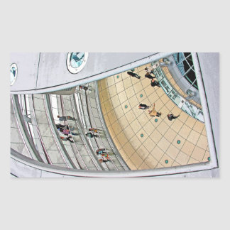 Reichstag / Bundestag,Interior Walkway, Berlin(r27 Rectangular Sticker