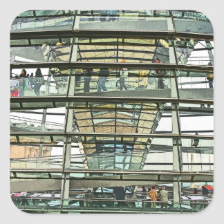 Reichstag / Bundestag,Outside Look In, Berlin(r15p Square Sticker