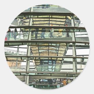 Reichstag / Bundestag,Outside Look In, Berlin(r15p Classic Round Sticker