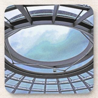 Reichstag / Bundestag,Roof, Berlin, Blue Tint Mute Drink Coaster