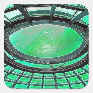 Reichstag / Bundestag,Roof, Berlin, Green Tint (pl Square Sticker