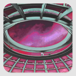 Reichstag / Bundestag,Roof, Berlin, Red Tint Square Sticker