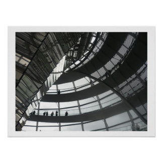 reichstag dome berlin poster