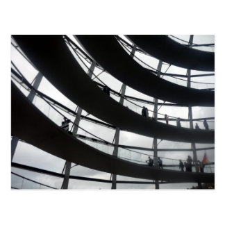 reichstag dome curves postcard
