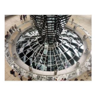 reichstag dome down postcard