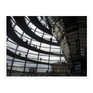 reichstag dome glass postcard