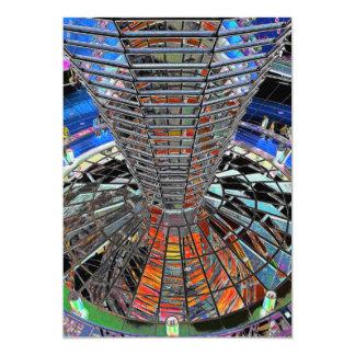 Reichstag/el Parlamento alemán, Berlín interior, Invitación 12,7 X 17,8 Cm