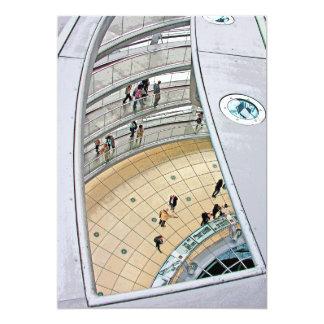 Reichstag/el Parlamento alemán, calzada interior, Invitación 12,7 X 17,8 Cm