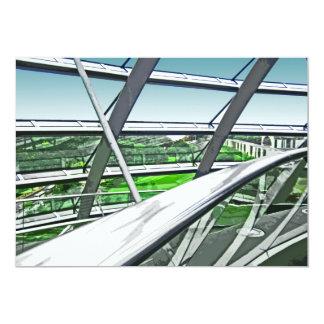 Reichstag/el Parlamento alemán, carriles Invitación 12,7 X 17,8 Cm