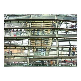 Reichstag/el Parlamento alemán, mirada exterior Invitación 12,7 X 17,8 Cm