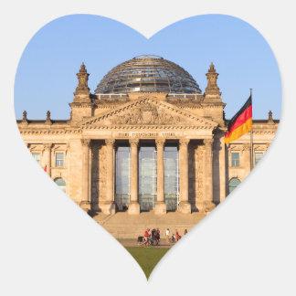 Reichstag in Berlin Heart Sticker