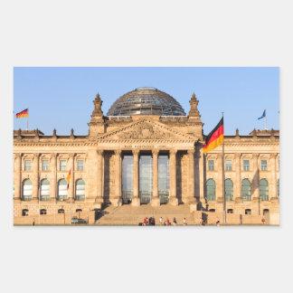 Reichstag in Berlin Rectangular Sticker