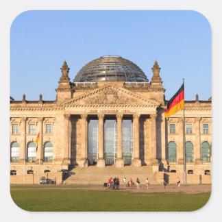 Reichstag in Berlin Square Sticker