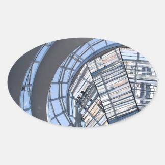 Reichstag Mirrored Dome - Berlin Oval Sticker