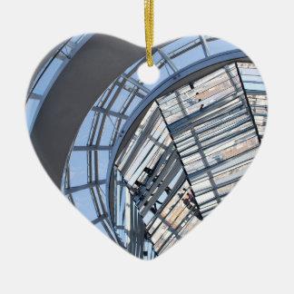 Reichstag reflejó la bóveda - Berlín Adorno Navideño De Cerámica En Forma De Corazón