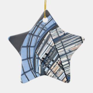 Reichstag reflejó la bóveda - Berlín Adorno Navideño De Cerámica En Forma De Estrella