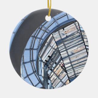 Reichstag reflejó la bóveda - Berlín Adorno Navideño Redondo De Cerámica