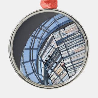 Reichstag reflejó la bóveda - Berlín Adorno Navideño Redondo De Metal
