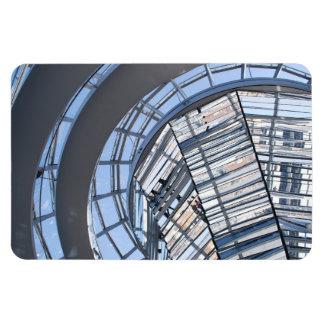 Reichstag reflejó la bóveda - Berlín Imán Rectangular