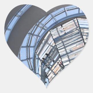 Reichstag reflejó la bóveda - Berlín Pegatina En Forma De Corazón