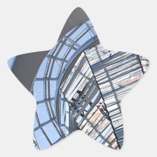 Reichstag reflejó la bóveda - Berlín Pegatina En Forma De Estrella