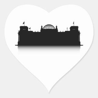 Reichstag Heart Sticker