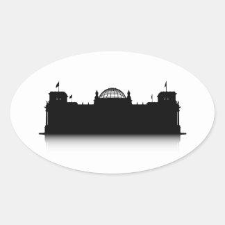 Reichstag Oval Sticker