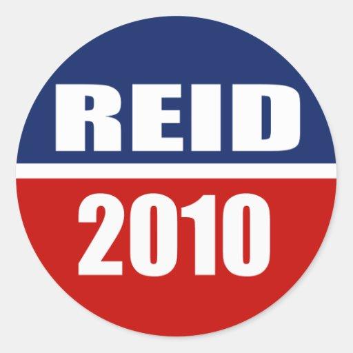 REID 2010 ROUND STICKER