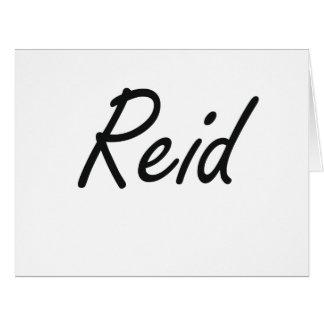 Reid Artistic Name Design Large Greeting Card