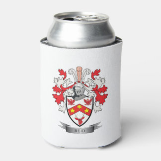 Reid Family Crest Coat of Arms Can Cooler