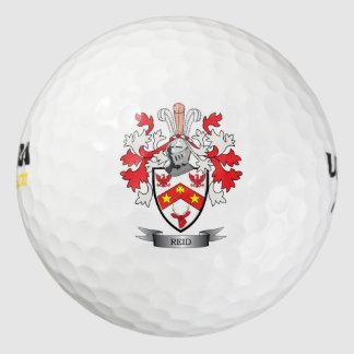 Reid Family Crest Coat of Arms Golf Balls