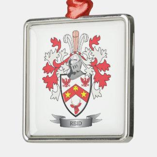 Reid Family Crest Coat of Arms Metal Ornament