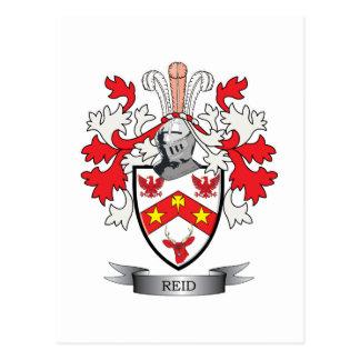 Reid Family Crest Coat of Arms Postcard