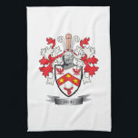 """Reid Family Crest Coat of Arms Towel<br><div class=""""desc"""">Reid family crest and Scottish Reid coat of arms. For men with the Reid surname,  and for women with the Reid last name. Click &#39;Reid Family Crest&#39; to see all our designs featuring the Reid family name.</div>"""