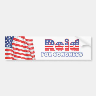Reid for Congress Patriotic American Flag Car Bumper Sticker
