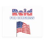 Reid for Congress Patriotic American Flag Postcards