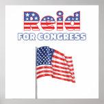 Reid for Congress Patriotic American Flag Poster
