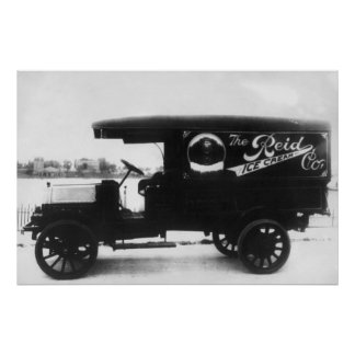 Reid Ice Cream Company Truck Poster