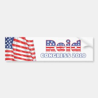 Reid Patriotic American Flag 2010 Elections Bumper Sticker