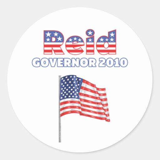 Reid Patriotic American Flag 2010 Elections Sticker