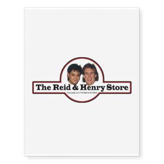 Reid y la tienda Tatoo temporal de Henry Tatuajes Temporales