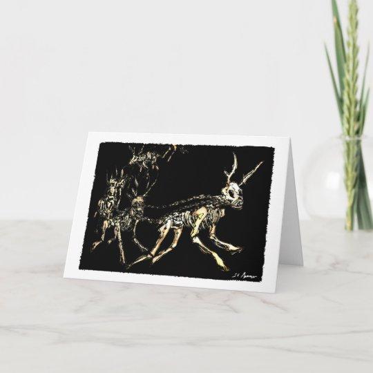 Reindeer Christmas Cards.Reign Of The Reindeer Christmas Card