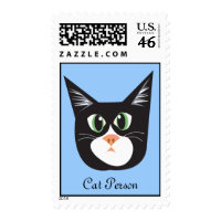 Reigning Cats & Dogs_Cat Person postage stamp