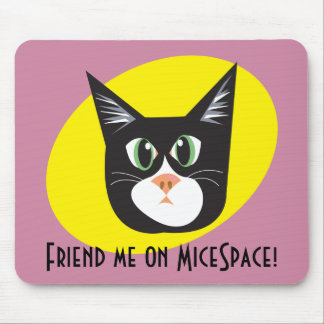 Reigning Cats & Dogs_Furry Faces_Friend Me! Mouse Pad