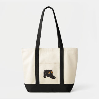 Reigning Cats & Dogs_Furry Faces_Little Mo Tote Bag
